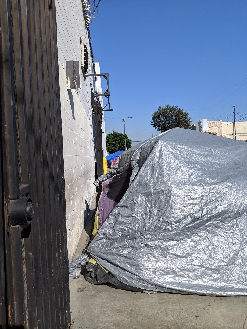 - This is Marie's Tent on the outskirts of Skid Row.For the first time in a long time, she could control her own space.Every week now, for years, we've stopped, chatted and served Marie.She's not an addict or mentally ill. She is very very poor. She is a grandmother who has had to fend for herself for years.In the last months of her street life, she watched a young warehouse party-goer get shot dead, directly across from her tent.The list of what she's endured is thick…Despite that, Marie, or Mommy as we always called her, never failed to bless us and ask us how we were doing, how we were