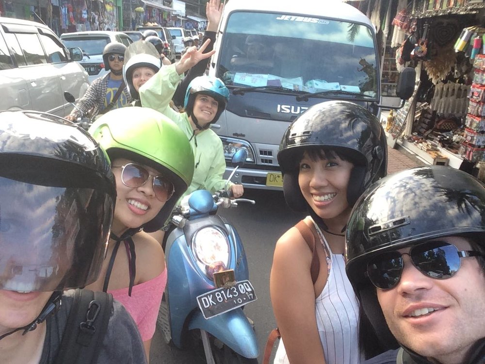 Meet the Bali Biker Club: a ragtag group of friends I made for life while staying in my hostel in Ubud!