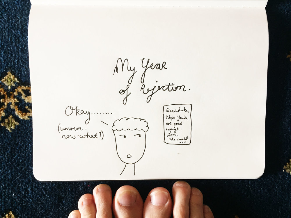 My year of rejection. Drawing Luke Hockley.