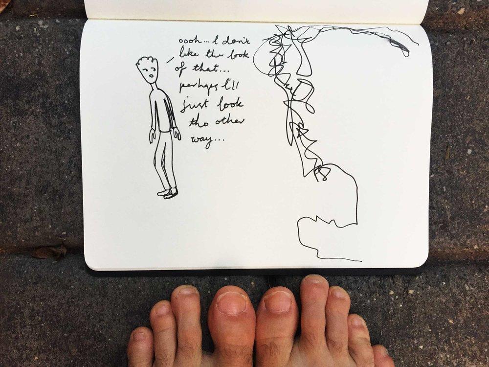 Can it last? Drawing Luke Hockley.
