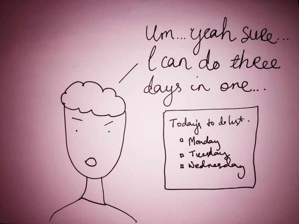 Three days in one. Drawing Luke Hockley.