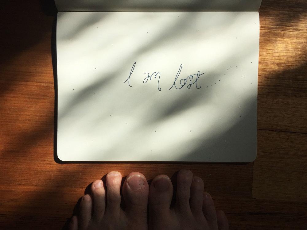 I am lost. Drawing Luke Hockley.
