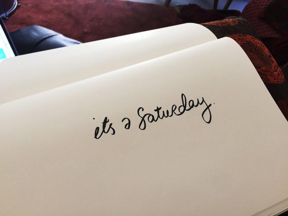 It's a Saturday. Drawing Luke Hockley.
