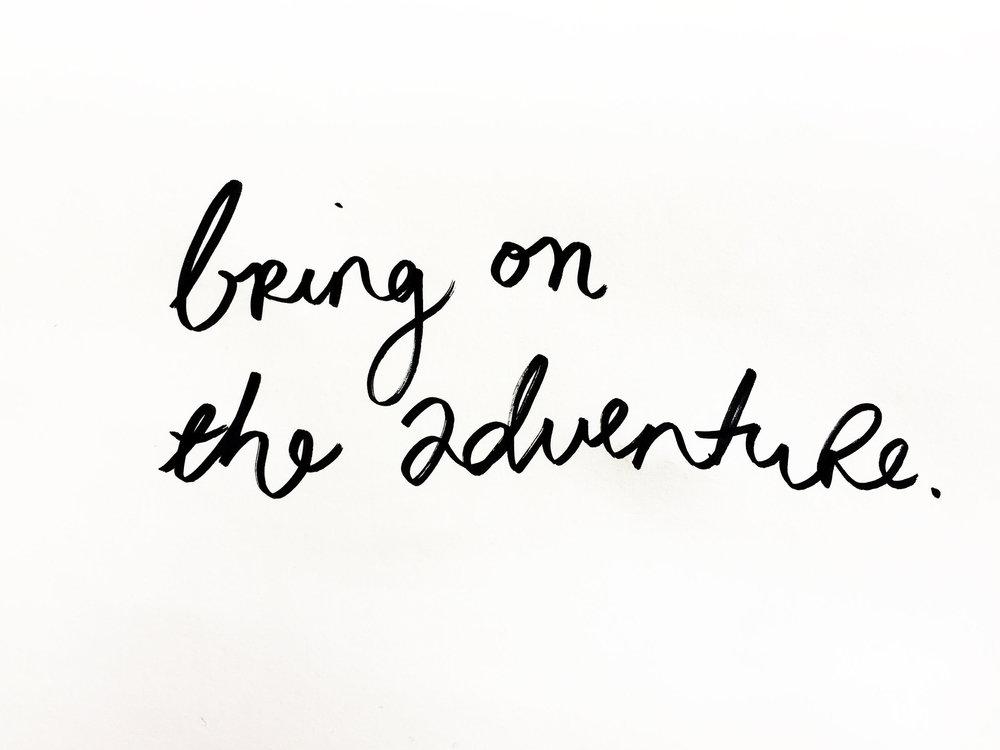 Bring on the adventure. Drawing Luke Hockley.