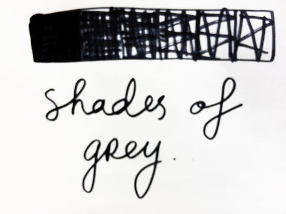 Shades of grey. Drawing Luke Hockley.