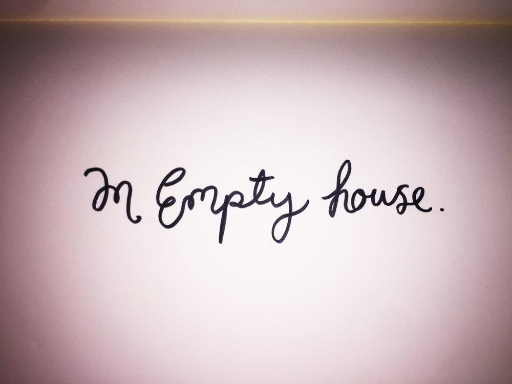 An empty house. Drawing Luke Hockley.