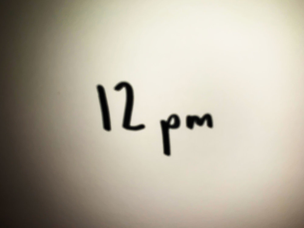 12pm. Drawing Luke Hockley