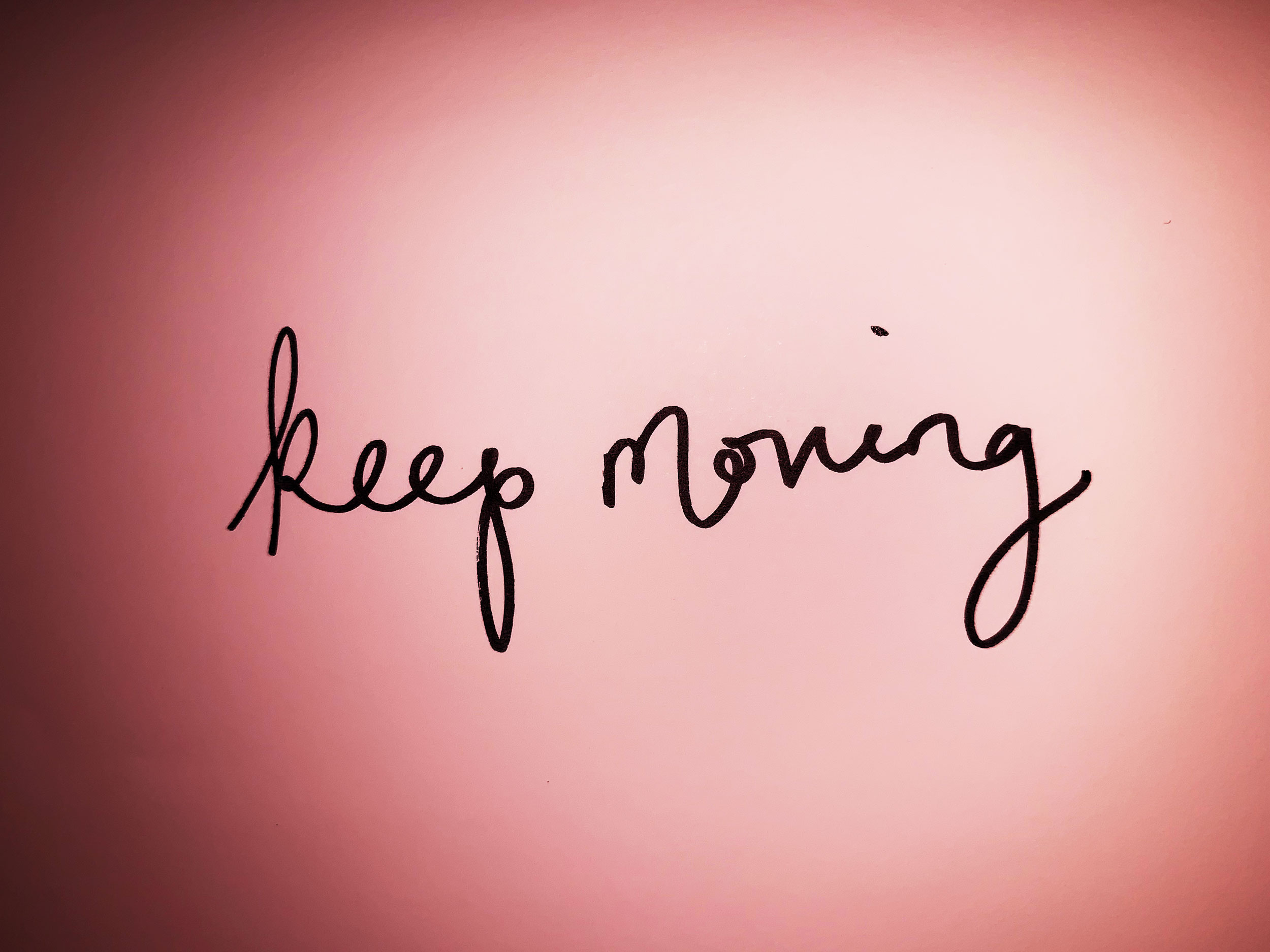 Keep moving. Drawing Luke Hockley.