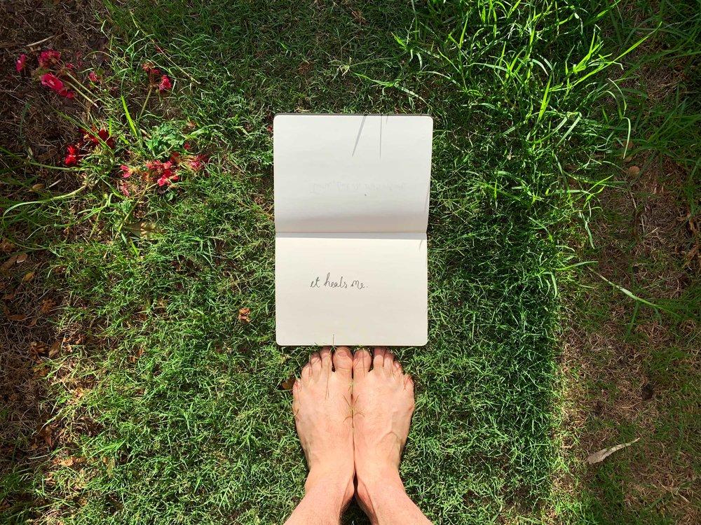 """Read """"It heals me"""" . Drawing Luke Hockley."""