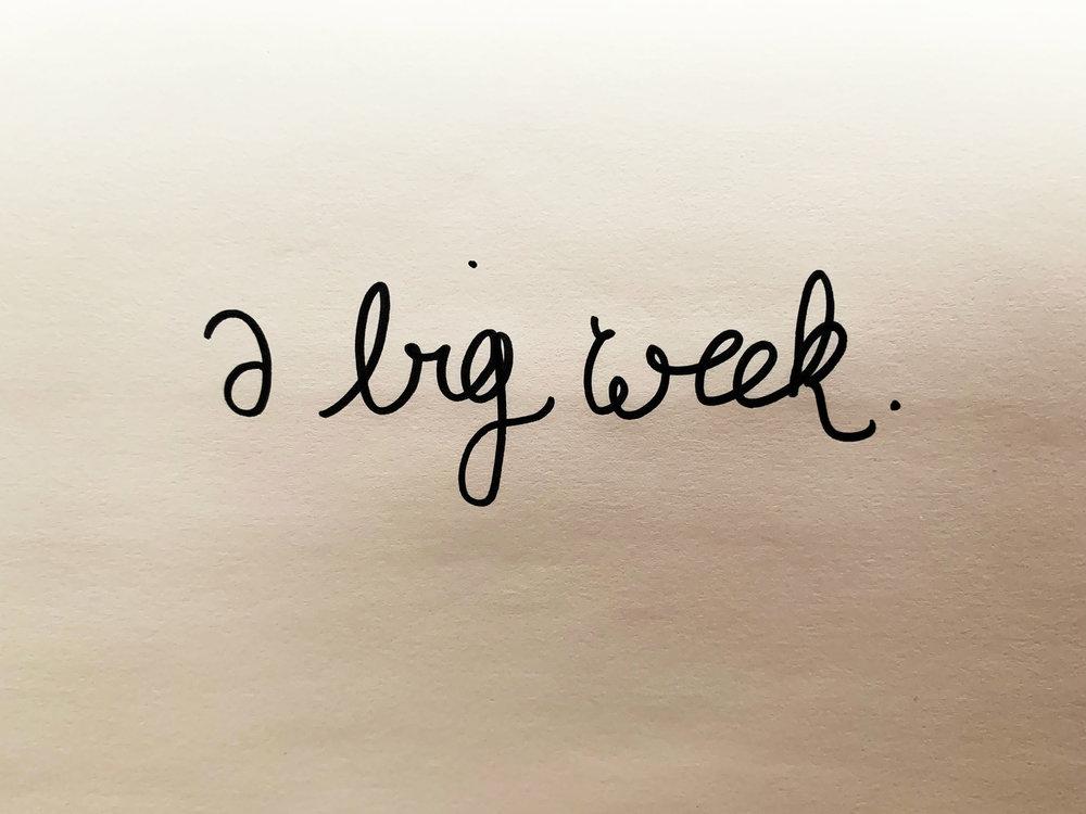 A big week. Drawing Luke Hockley.