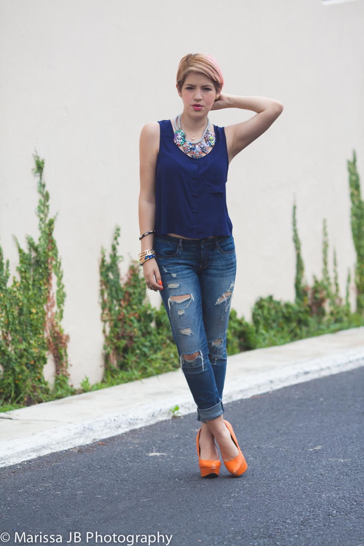 NN Jeans y blusa azul (1 of 8)