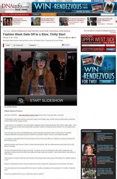 Manhattan Local News, FW2011