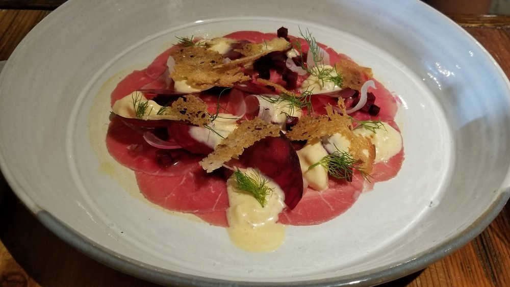 The wagyu beef carpaccio is a standout on the menu. Photo by Nick Bailey
