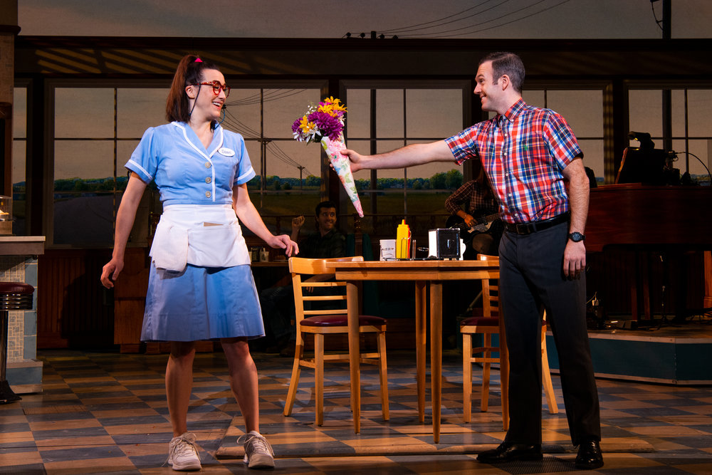 Jessie Shelton and Jeremy Morse in Waitress. Photo by Philicia Endelman