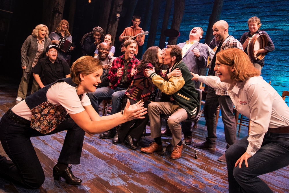 The First North American Tour Company of COME FROM AWAY. Photo by Matthew Murphy