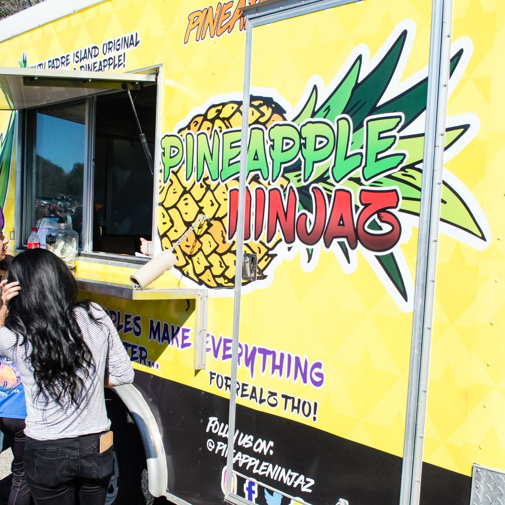 One crowd favorite from the festival was Pineapple Ninja, a South Padre Island original serving up colorful combinations in a halved pineapple. Photo by Nick Bailey
