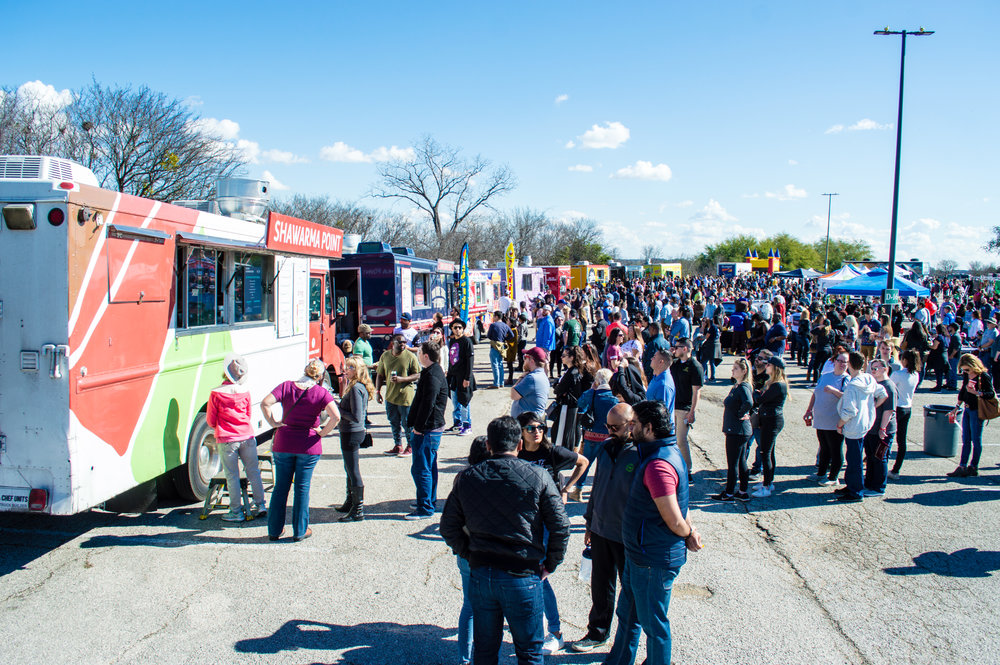 David Poku's ATX Food Truck Festival featured eight food trucks and approximately 15 vendors and entertainment attractions. Photo by Nick Bailey