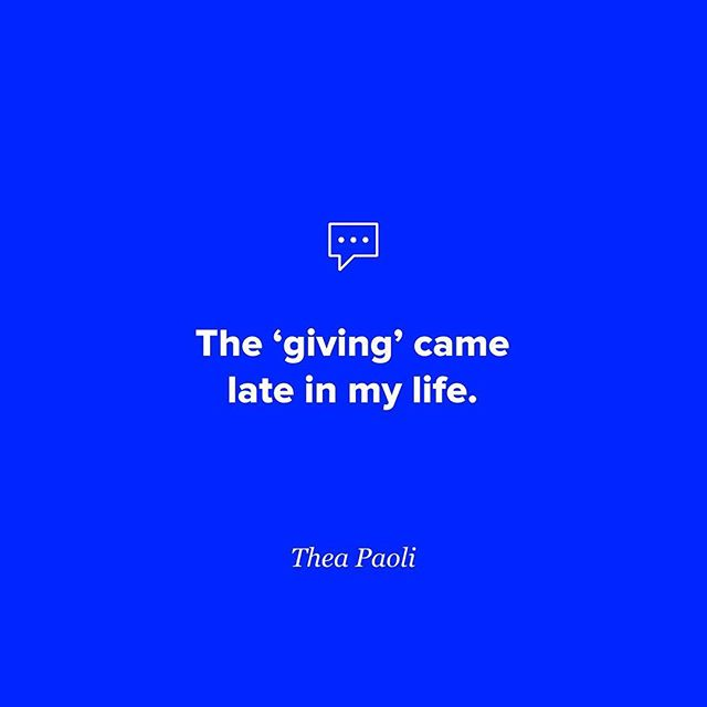 Ultimately 'giving' brings so much happiness. Listen to the full conversation with Thea. 👉 Link in profile. . . . . . #giveback #giving #dailyinspiration #quoteoftheday #lifeadvice #sheisnotlost #conversationswithwomen #podcast #listen #ihaveastory