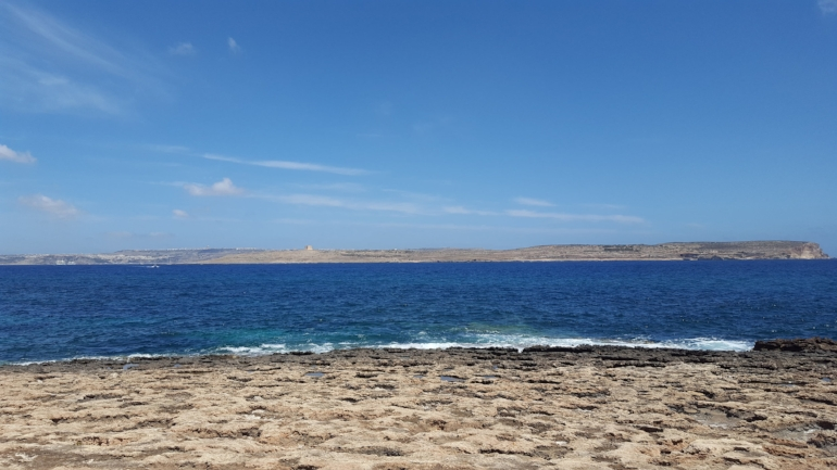 The view from a beach when i went to malta, on my own!