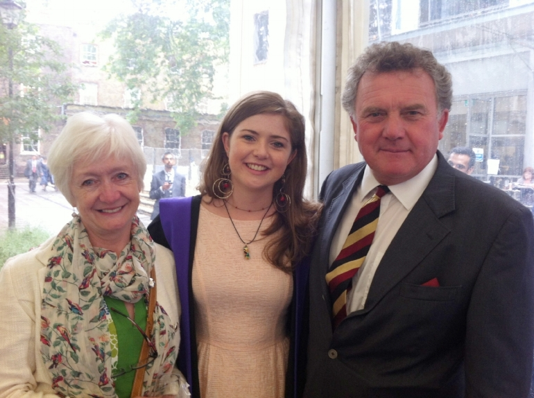 My mum, me and my dad on my emotional graduation day!