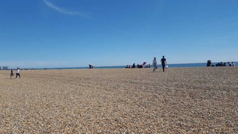 I took this photo from my wheelchair in Brighton whilst making the most of the sea breeze, in May.