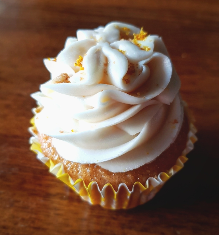 Clare's celicious Lemon cupcake that I bought from Craft Taproom