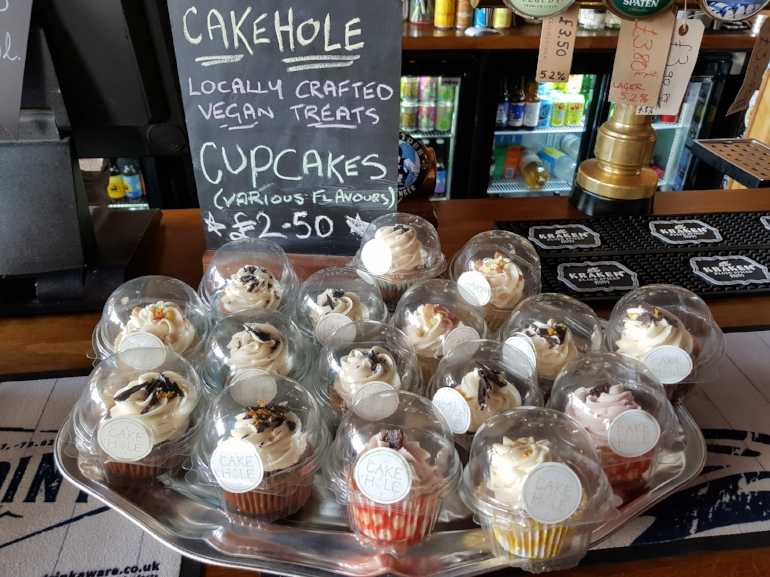 Cupcakes available to buy from The Craft Taproom on Smithdown Road