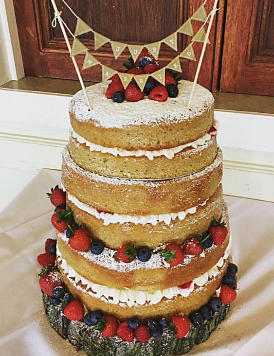 A wedding cake, made by Cakehole recently.