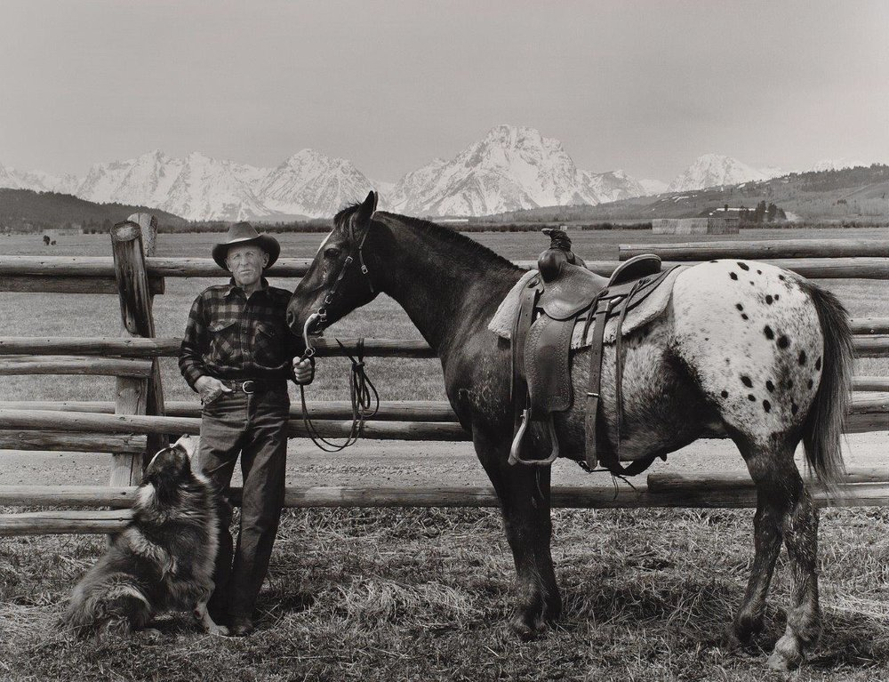 WE GO WAY BACK - Walter Feuz with his dog Sam and horse Tuffy.