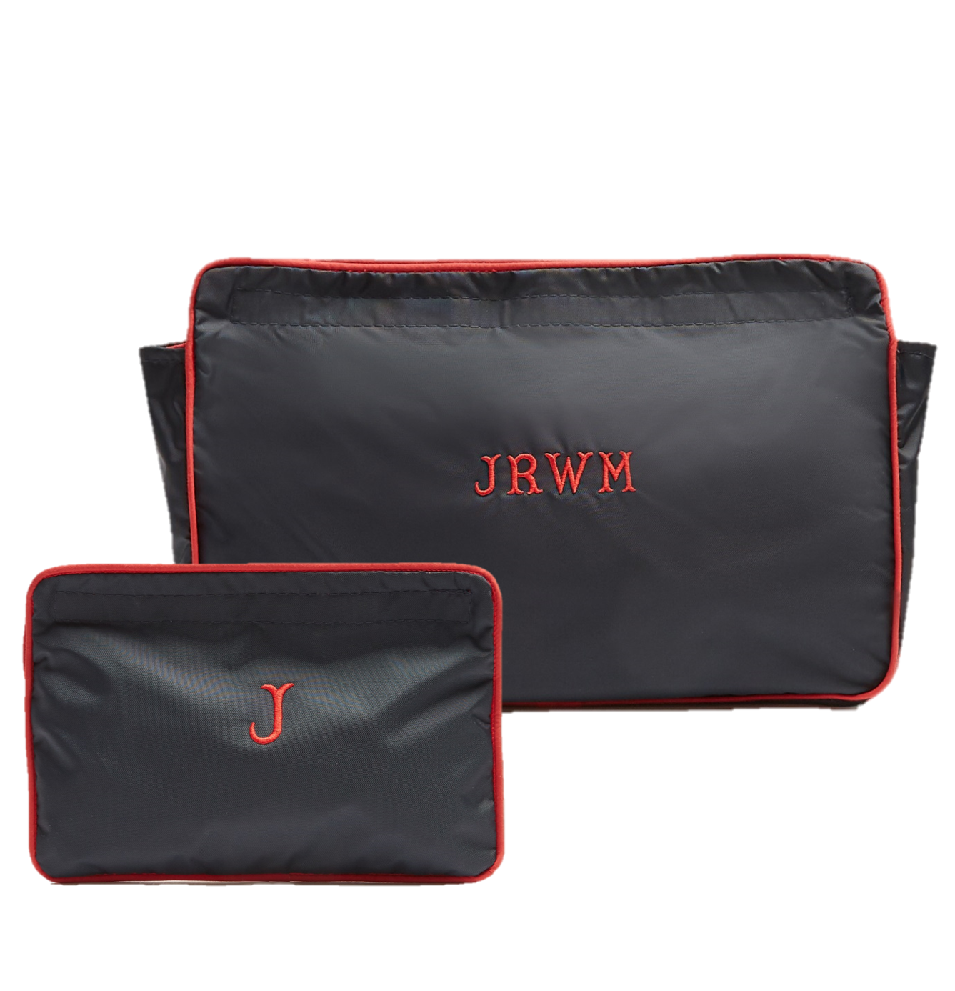 item 64 navyred sponge u0026 travel wash bag