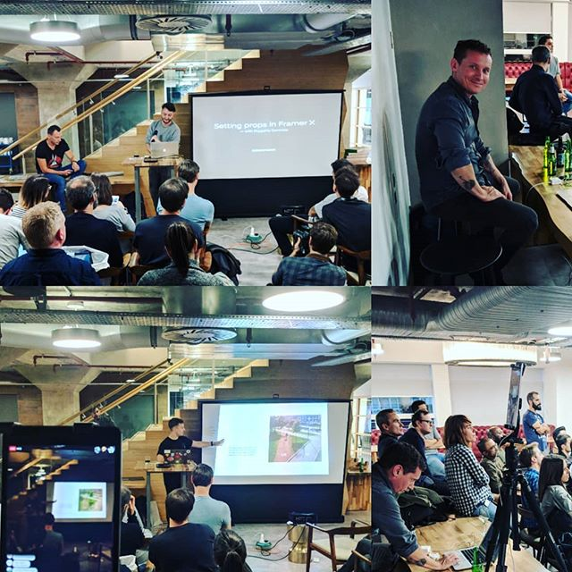 Some pics from tonight's #framerlondon another successful event. #framerx #design #prototyping