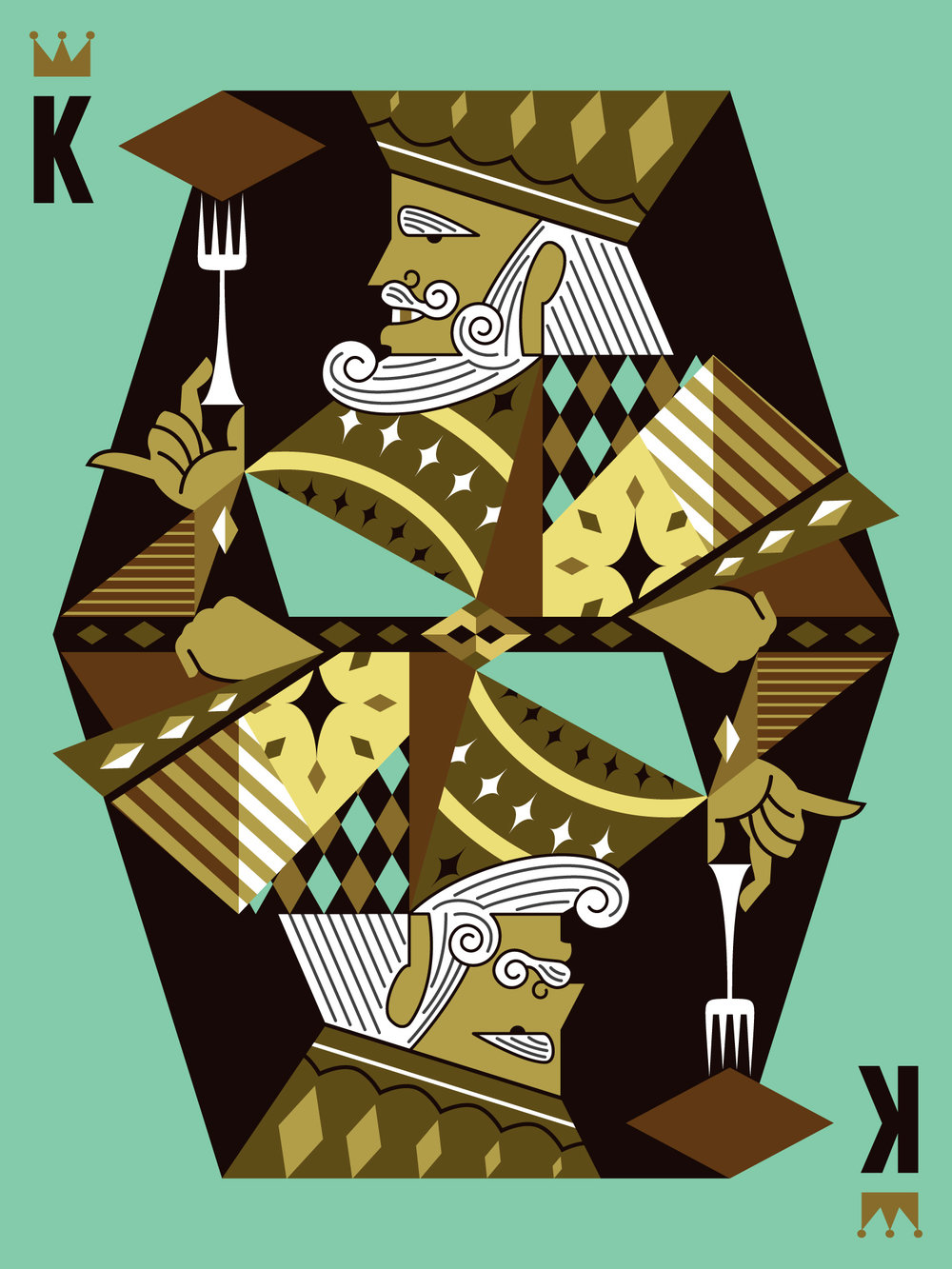 King of Memphis Brownies Illustration