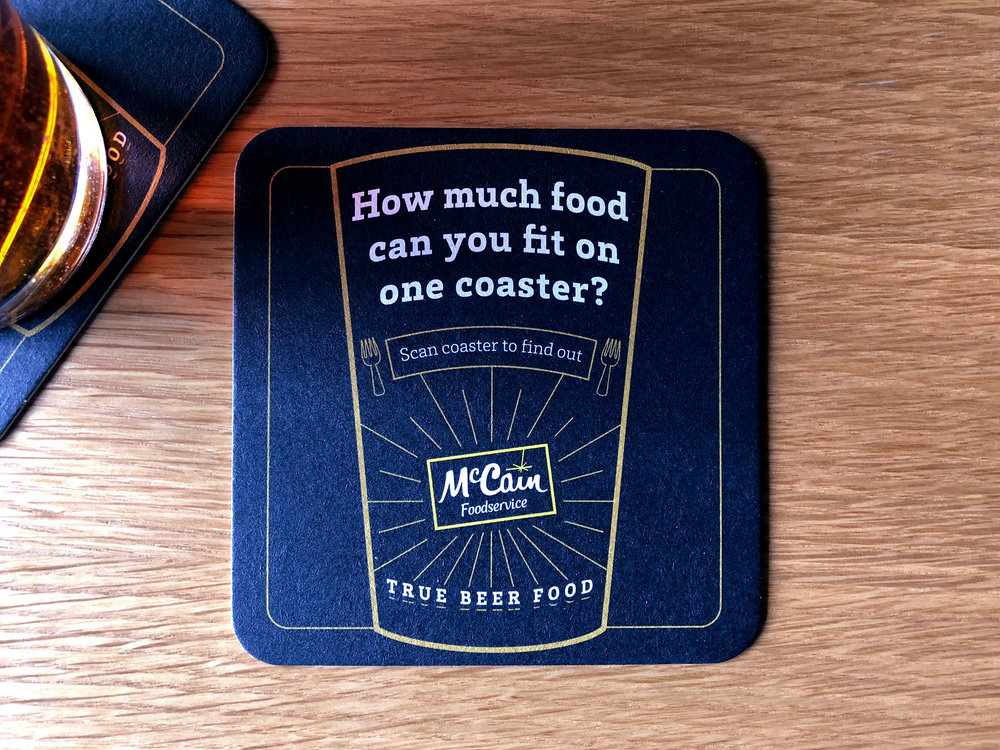 True Beer Food Augmented Reality Coaster