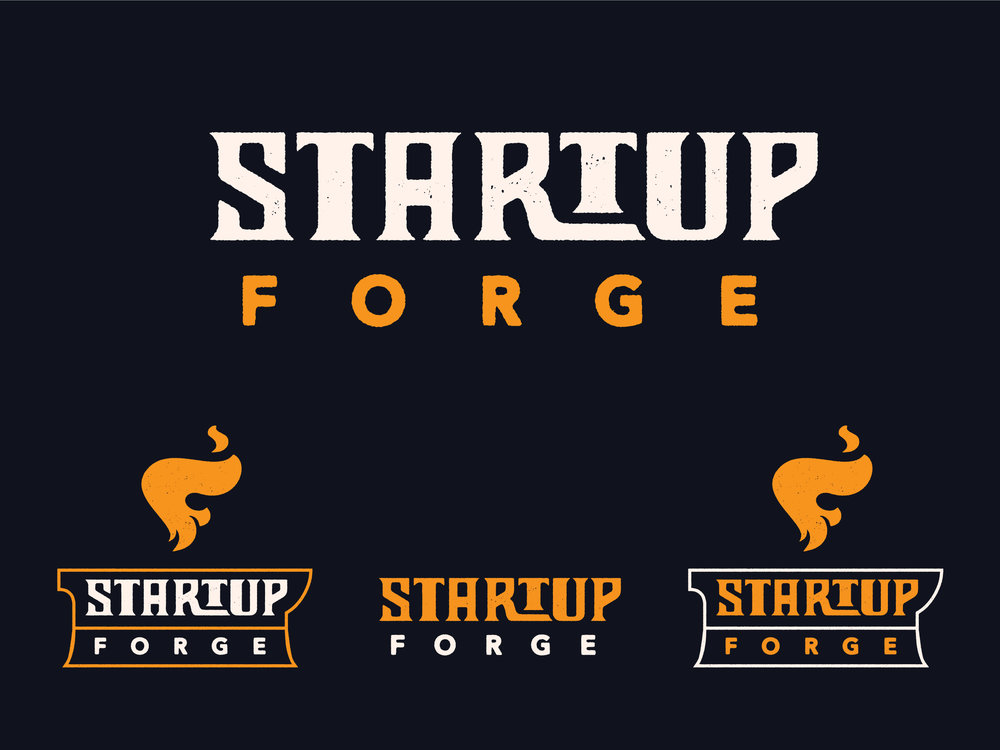 Startup Forge Branding : Wordmark Logo