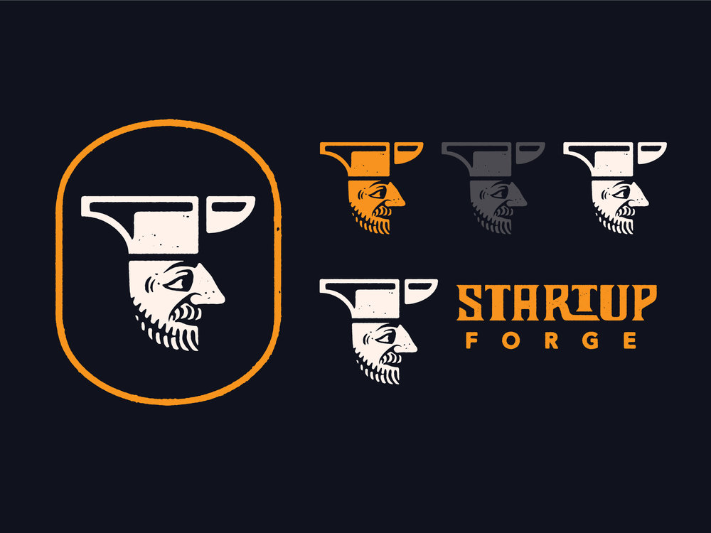Startup Forge Branding : Dropcap Logo