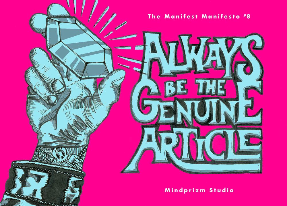 Be the Genuine Article Illustration