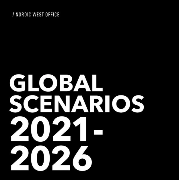 GLOBAL SCENARIOS 2021-2026 - Are trade wars the new normal? Who will control AI? Will China take the US role in politics and economics? To answer these questions among others, Nordic West Office, together with 16 Nordic companies, has developed four Global Scenarios to describe plausible futures ranging from 2021 to 2026.Scenarios help companies, organisations and societies to prepare for the future, and stress test their strategies.The four scenarios are: Belt and Road, which lengthens China's march and examines how far it will take us; War-War picks up on how patriotism, populism and protectionism unite and divide within borders; Cyberworld imagines what technology can do for us on a global level; Downshift focuses on the interplay of the new economy and changing values under conditions of lower growth but higher hopes.Download the full scenarios report here.