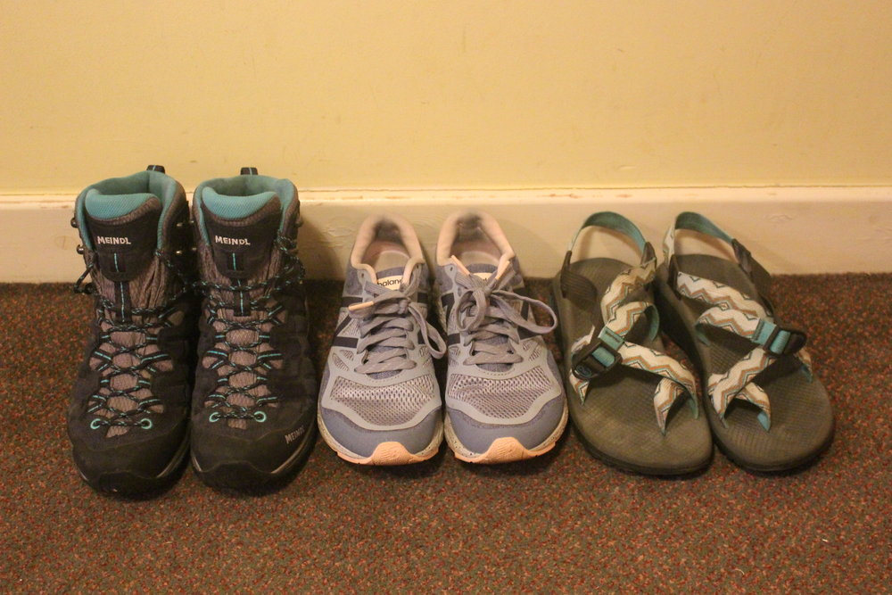 Shoes packing list