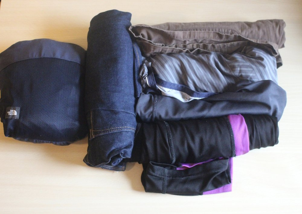 Trousers packing list