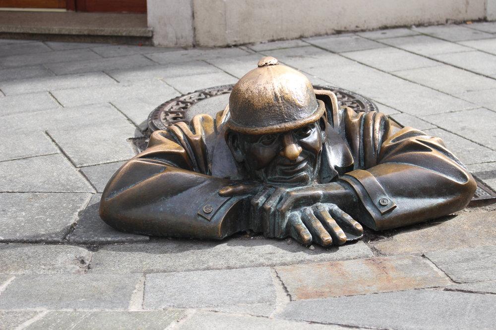 Man at Work Statue (Bratislava, Slovakia)