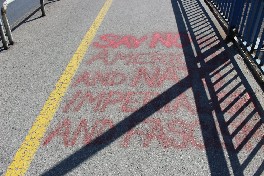 """Say no to American and NATO imperialism and fascism"""
