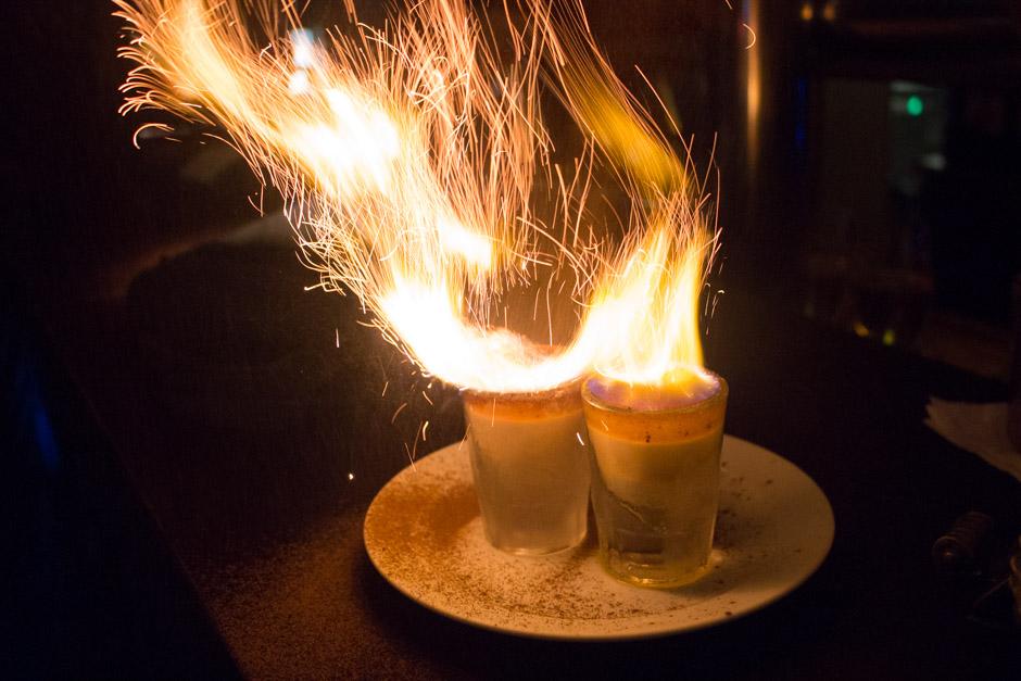 Flaming Shots in Hamburg