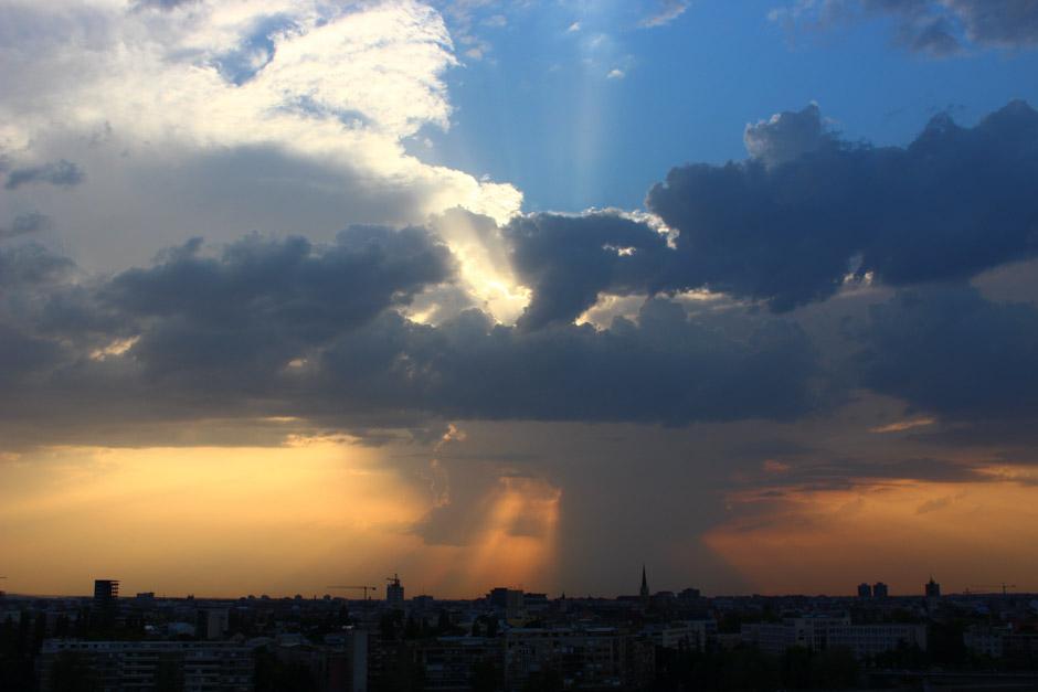 Storm over Novi Sad, Serbia