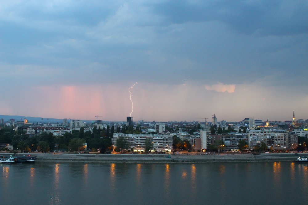 Lighting Storm in Novi Sad, Serbia