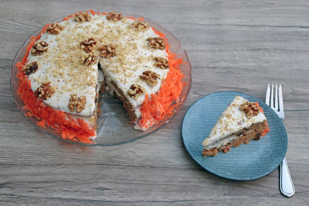 Carrot cake using Apple Sauce -  Recipe Here