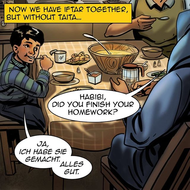 #homecomicbook #ramadan #ramadan2017 #na3am #comicbook #comics #comicbooks #comicarts #refugees #kids #germany #berlin #home #iftar #together #family #رمضان  #شهر_رمضان  #رمضان_2017 #رمضان_كريم #رمضانيات#
