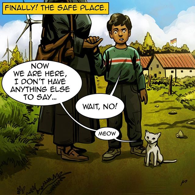 #homecomicbook #ramadan #ramadan2017 #na3am #comicbook #comics #comicbooks #comicarts #cat #talkingcat #refugees #kids #safe #germany #home  #رمضان  #شهر_رمضان  #رمضان_2017 #رمضان_كريم #رمضانيات#