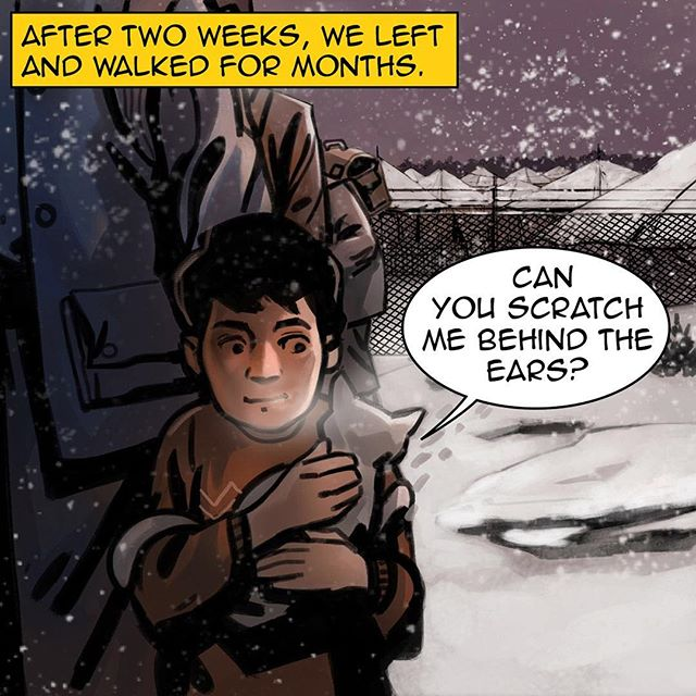 #homecomicbook #ramadan #ramadan2017 #na3am #comicbook #comics #comicbooks #comicarts #cat #talkingcat #refugees #kids #refuggecamp #winter #snow #رمضان  #شهر_رمضان  #رمضان_2017 #رمضان_كريم #رمضانيات#
