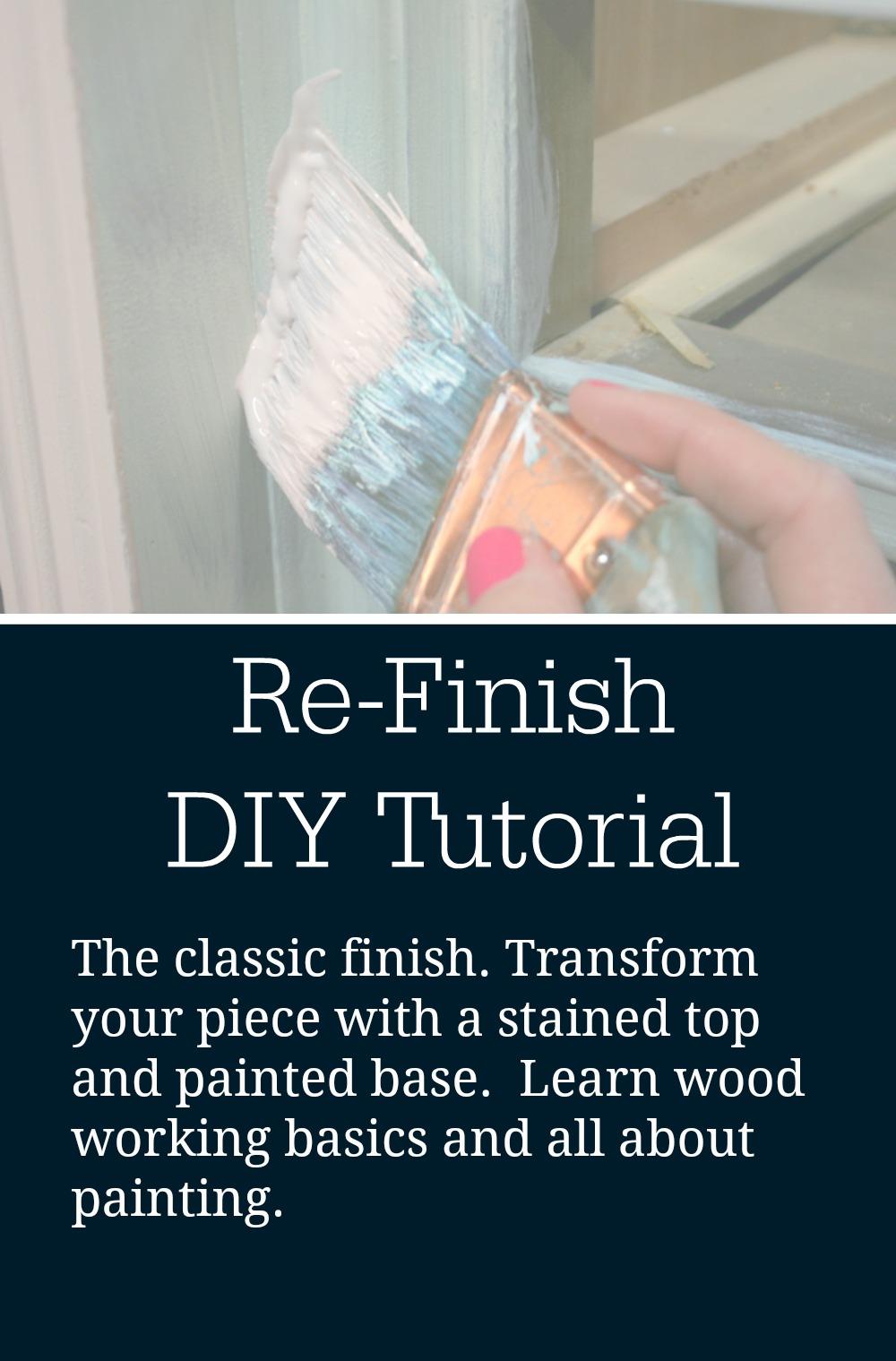 refinish diy tutorial class