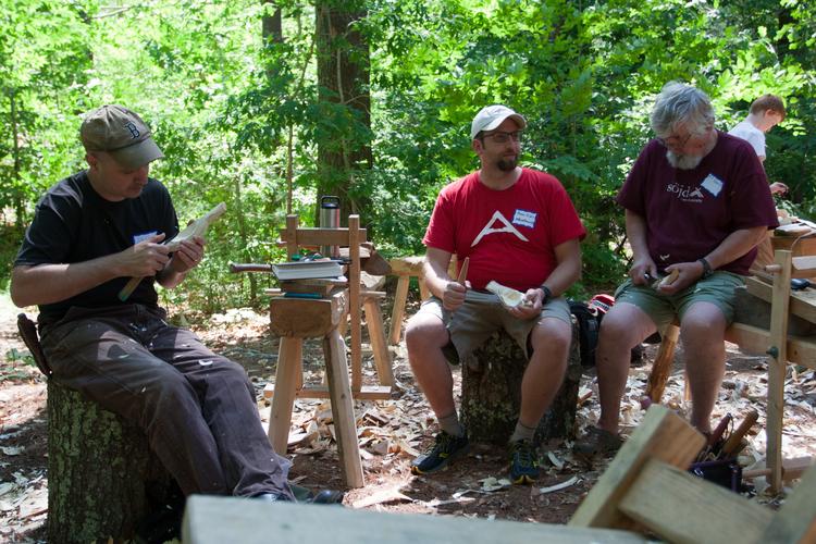 David Fishers bird bowl class with Ed.